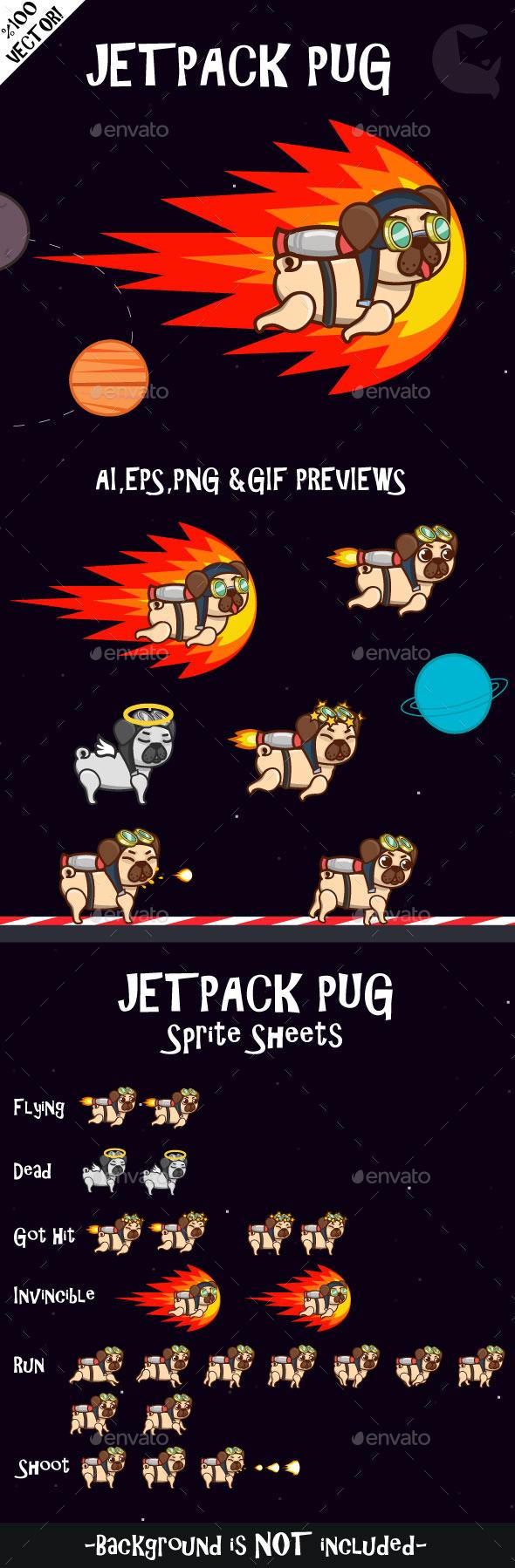 GraphicRiver Jetpack Pug 10629333