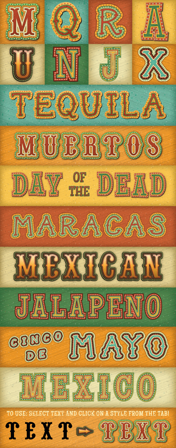 GraphicRiver Mexican Text Styles 10629340
