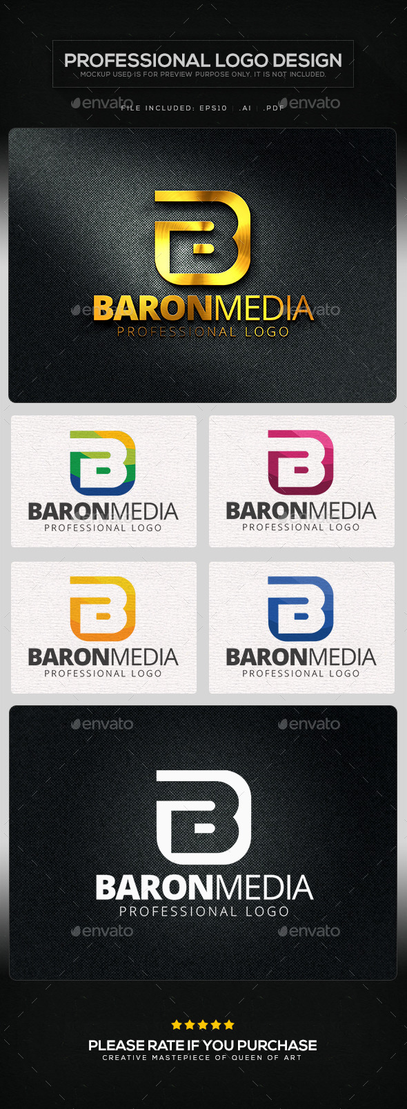 GraphicRiver Baron Media Logo Template 10629464