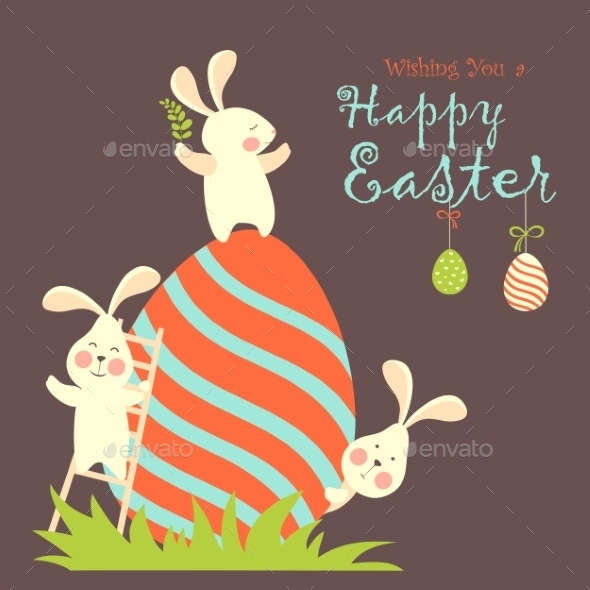 GraphicRiver Easter Bunnies and Easter Eggs 10629580