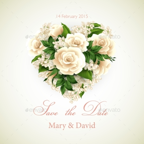 GraphicRiver Heart with Roses 10629581
