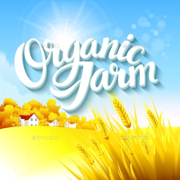 GraphicRiver Organic Farm Logo 10629591