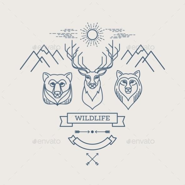 GraphicRiver Wild Animals 10629604
