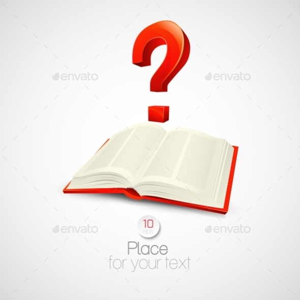 GraphicRiver Book with Question Mark 10629641