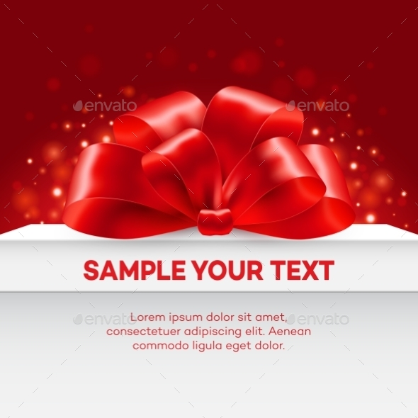 GraphicRiver Gift with Red Bow 10629750
