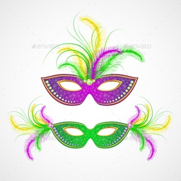 GraphicRiver Mardi Gras Carnival Mask 10629754