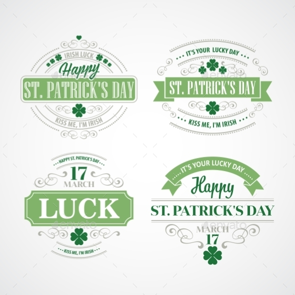 GraphicRiver Typography St Patricks Day 10629756