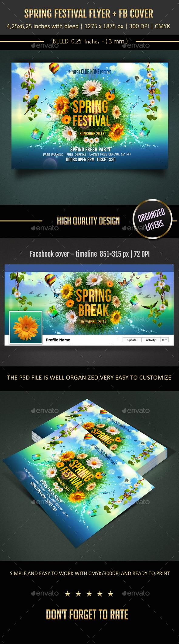 GraphicRiver Spring Festival Flyer 10629889