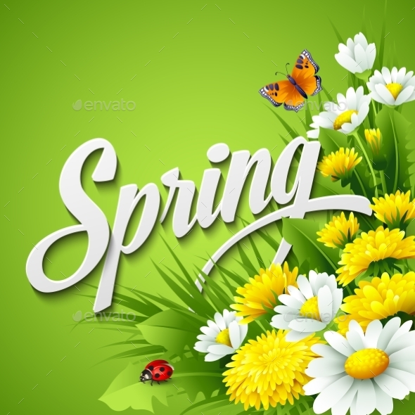 GraphicRiver Fresh Spring Background 10630023