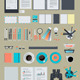 Set of Flat Design Business Items  - GraphicRiver Item for Sale