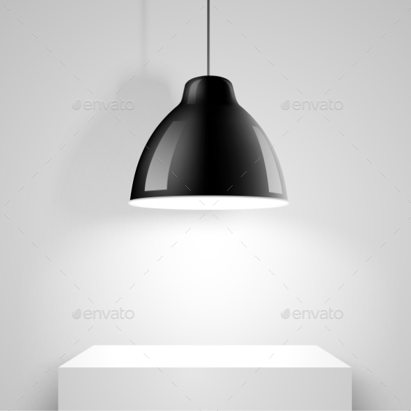 GraphicRiver Black Ceiling Lamp 10630032