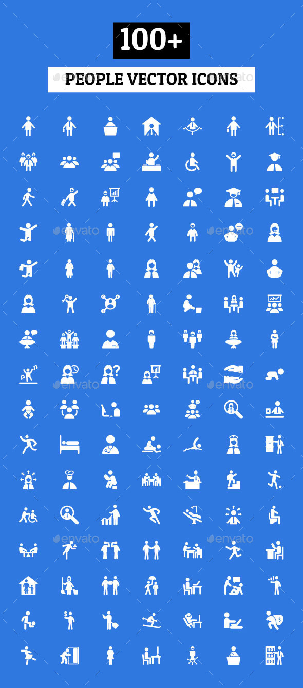 GraphicRiver 100& People Vector Icons 10630252