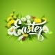 Title Easter with Spring Flowers - GraphicRiver Item for Sale