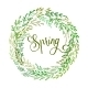 Hand Drawn Spring Wreath - GraphicRiver Item for Sale