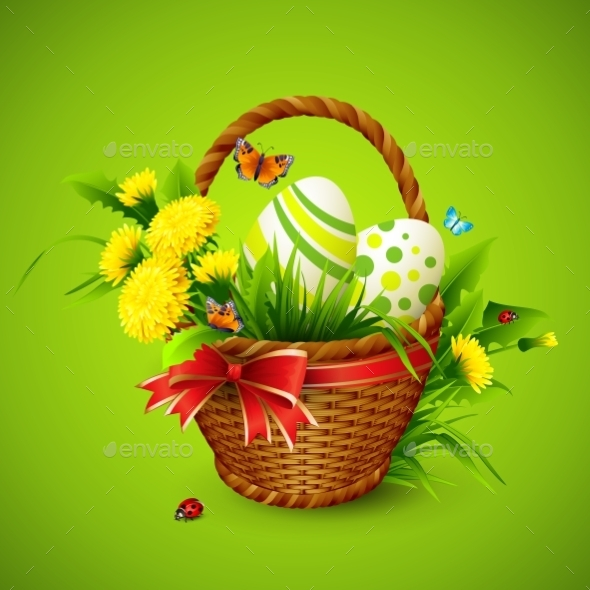 GraphicRiver Easter Card with Basket 10630296