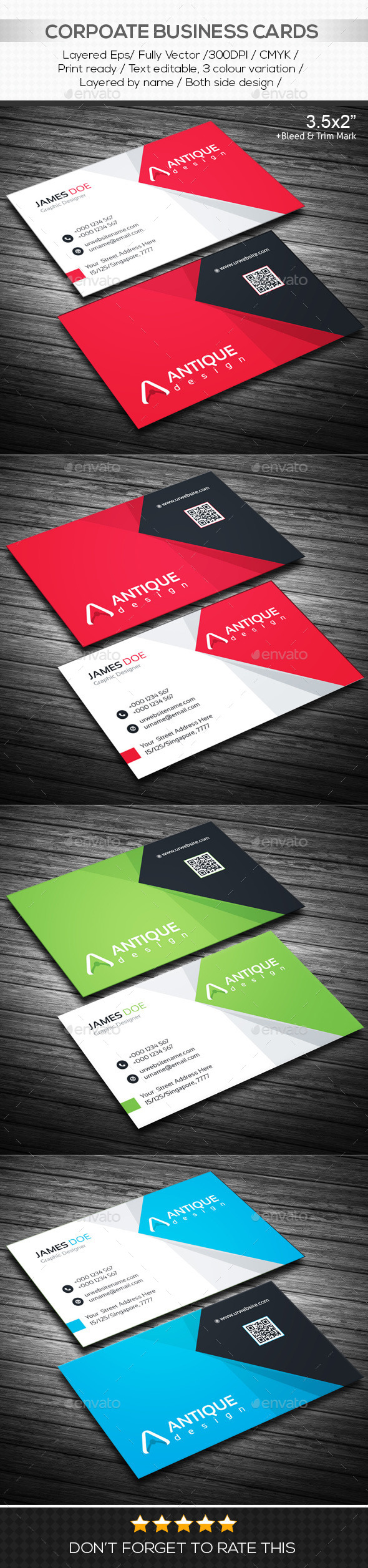 GraphicRiver Antique Design Corporate Business Cards 10630354