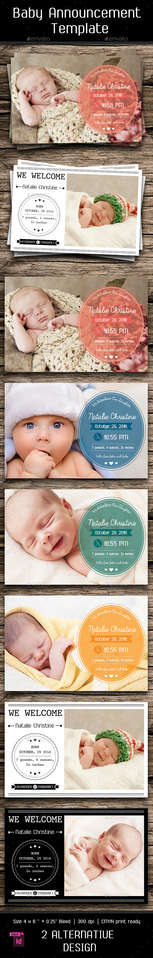 GraphicRiver Baby Announcement Template Vol.5 10630420