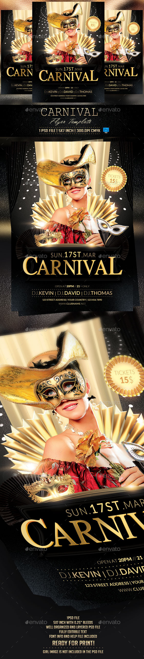 GraphicRiver Carnival Party Flyer Template 10630463