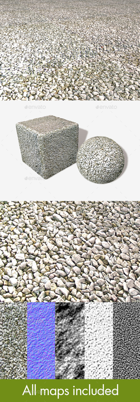 Gravel Stones Seamless Texture - 3DOcean Item for Sale