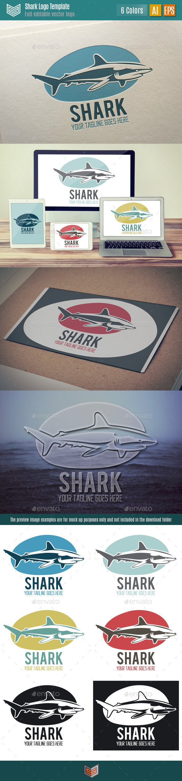 GraphicRiver Shark Logo 10631141