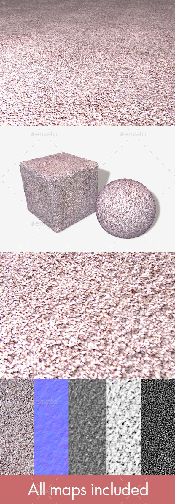 Short Carpet Seamless Texture - 3DOcean Item for Sale