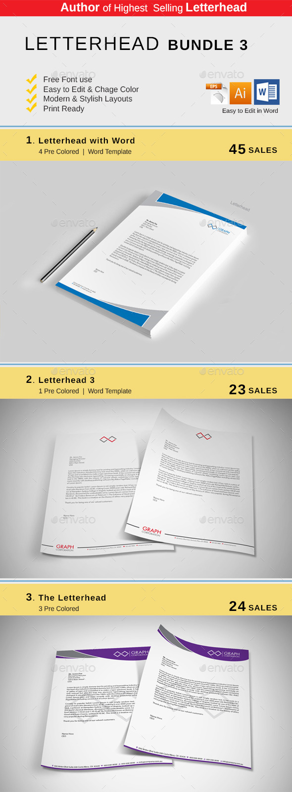 GraphicRiver Letterhead Bundle 10632024