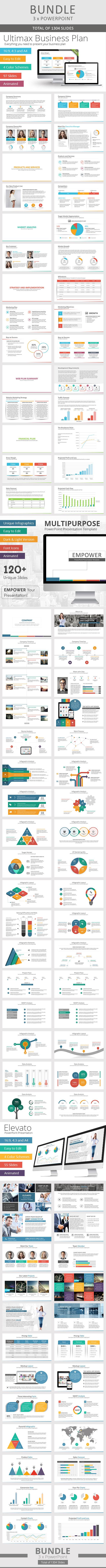 GraphicRiver 3 x Multi-Purpose PowerPoint Bundle 10632111