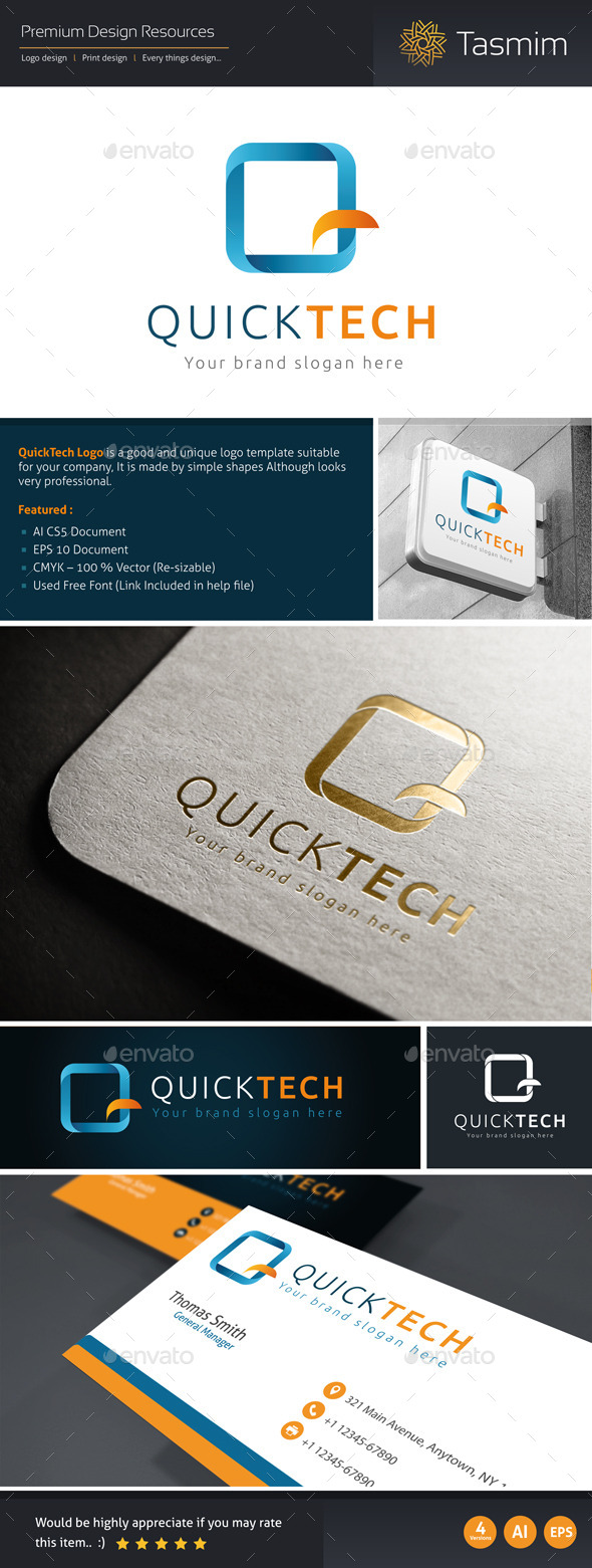 GraphicRiver QuickTech Logo Template 10632341