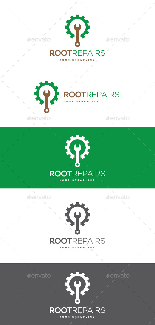 GraphicRiver Root Repairs Logo 10632457