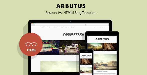 ThemeForest Arbutus Responsive HTML5 Blog Template 10369563