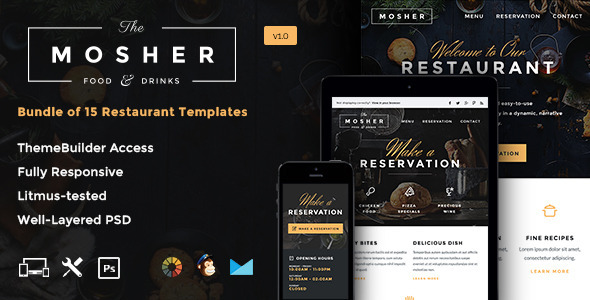 ThemeForest Mosher Promotional Email Pack & Builder Access 10633362