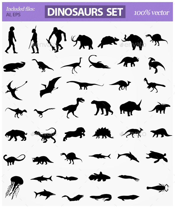 GraphicRiver Dinosaurs 10633393