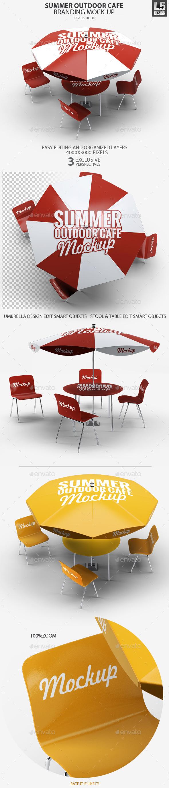 GraphicRiver Summer Outdoor Cafe Branding Mock-Up 10633581