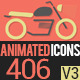 Animated Icons 406 - VideoHive Item for Sale