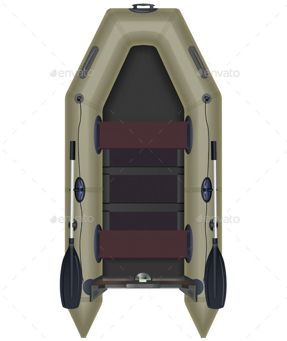 GraphicRiver Inflatable Boat Top View 10634423