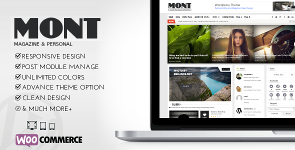 MONT - WP Theme Magazine & Personals - Blog / Magazine WordPress