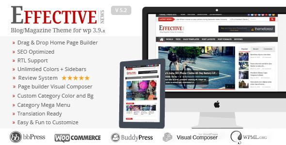 Effective News - Responsive WP News Magazine blog - News / Editorial Blog / Magazine