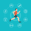 Running and jogging infographics concept - PhotoDune Item for Sale