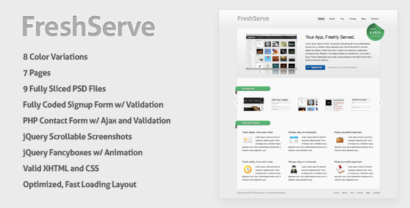 FreshServe - A Web App / SaaS Website Theme -