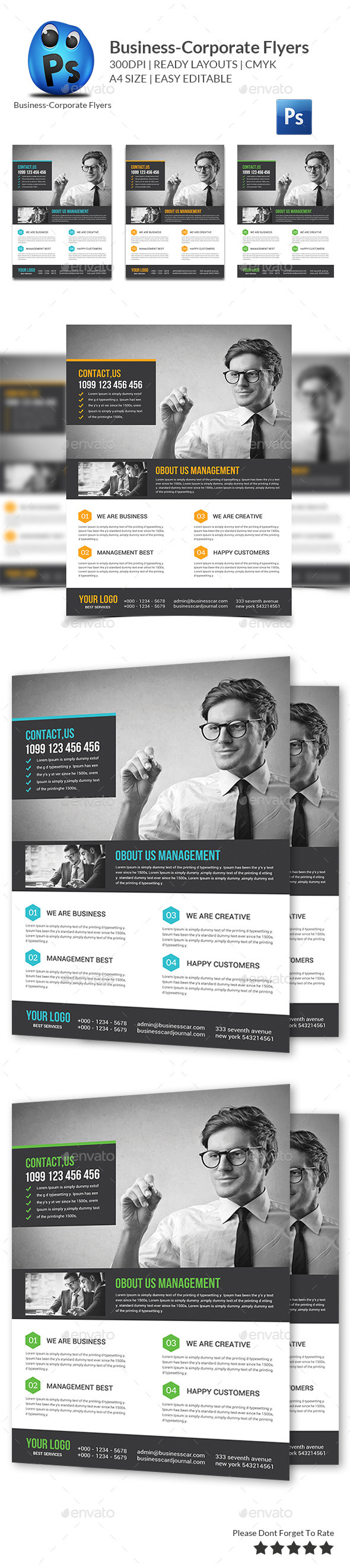GraphicRiver Business Flyers Templates 10635434