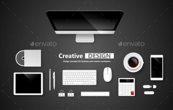 GraphicRiver Creative Design Workspace 10635584