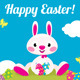 Easter Bunny and Easter Eggs - GraphicRiver Item for Sale