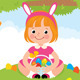 Happy Children in Rabbit Costume for Easter - GraphicRiver Item for Sale