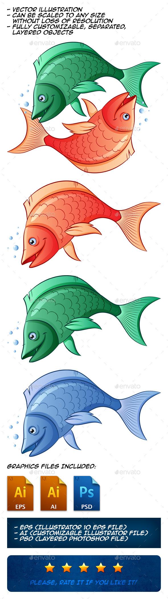 GraphicRiver Fishes 10635857