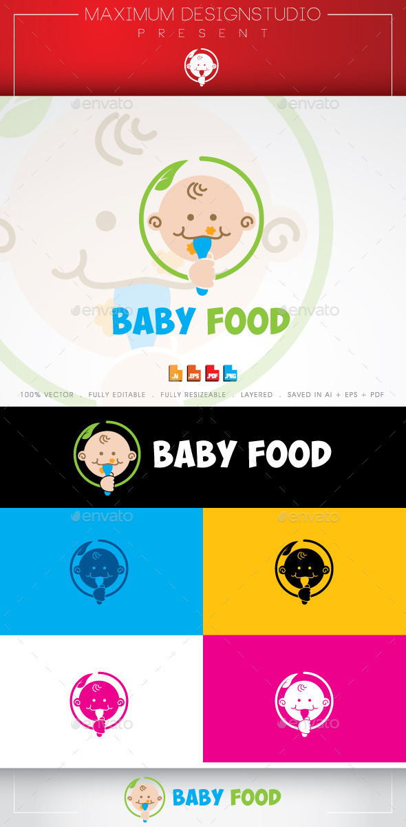GraphicRiver Baby Food Logo 10635990