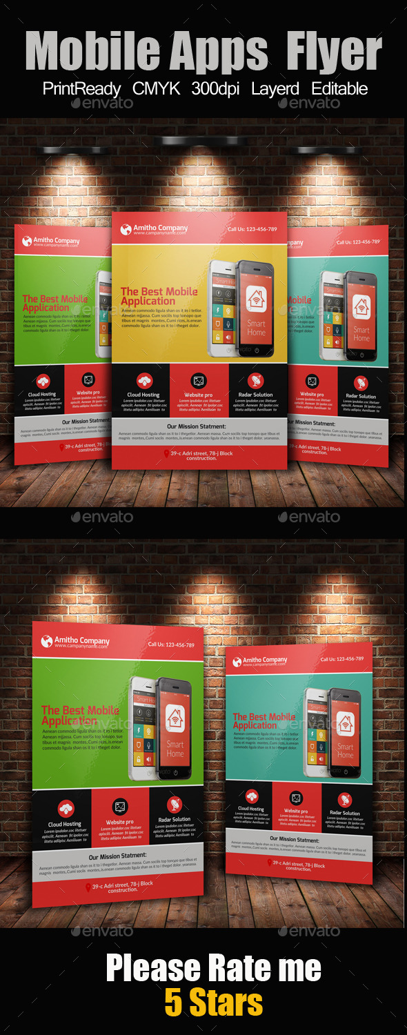 GraphicRiver Mobile Apps Promotion Flyer Template 10635993