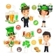 Office Workers on the Patricks Day Party - GraphicRiver Item for Sale