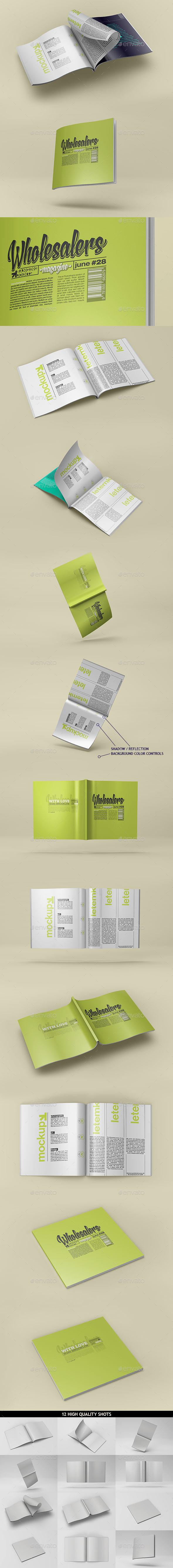 GraphicRiver Square Magazine Catalog Mockup 10636025