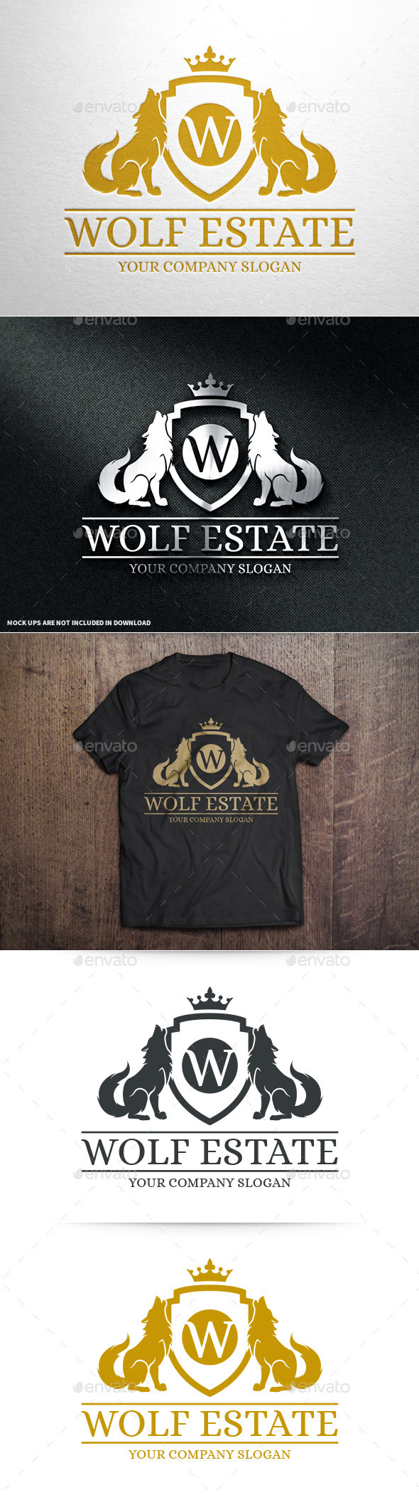 GraphicRiver Wolf Estate Logo Template 10636115
