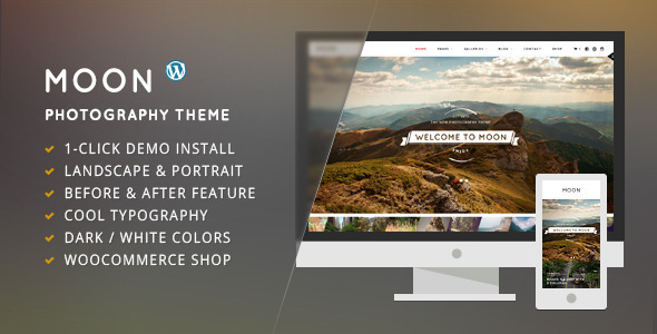 Moon - WordPress Theme for Photographers